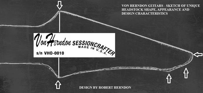 VON HERNDON GUITAR HEADSTOCK DESIGN SKETCH
